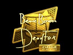 Sticker   DeadFox (Gold)   Atlanta 2017