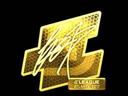 Sticker | fox (Gold) | Atlanta 2017