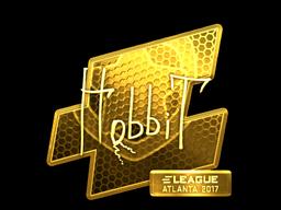 Sticker | Hobbit (Gold) | Atlanta 2017
