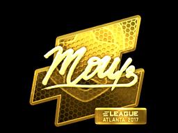 Sticker | mou (Gold) | Atlanta 2017