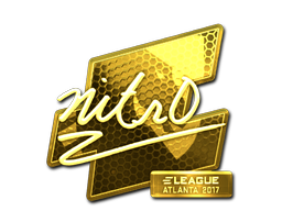 Sticker | nitr0 (Gold) | Atlanta 2017
