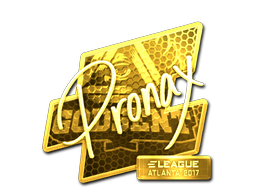 Sticker | pronax (Gold) | Atlanta 2017