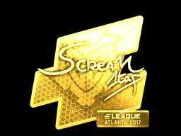 Sticker | ScreaM (Gold) | Atlanta 2017