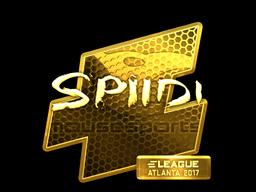 Sticker | Spiidi (Gold) | Atlanta 2017