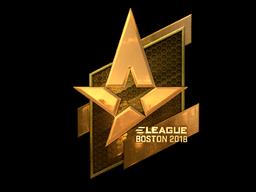Sticker | Astralis (Gold) | Boston 2018