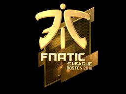 Sticker   Fnatic (Gold)   Boston 2018