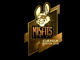 Sticker   Misfits Gaming (Gold)   Boston 2018