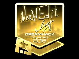 Sticker | WorldEdit (Gold) | Cluj-Napoca 2015