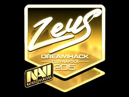 Sticker   Zeus (Gold)   Cluj-Napoca 2015