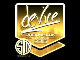 Sticker | device (Gold) | Cluj-Napoca 2015