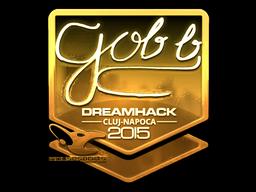 Sticker | gob b (Gold) | Cluj-Napoca 2015