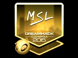 Sticker | MSL (Gold) | Cluj-Napoca 2015