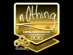 Sticker | n0thing (Gold) | Cluj-Napoca 2015