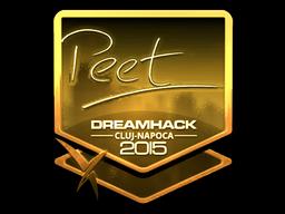 Sticker | peet (Gold) | Cluj-Napoca 2015