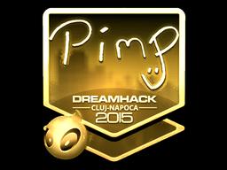 Sticker | Pimp (Gold) | Cluj-Napoca 2015