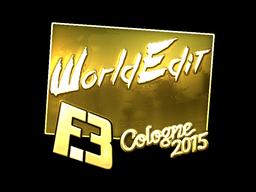 Sticker | WorldEdit (Gold) | Cologne 2015