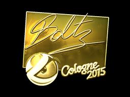 Sticker   boltz (Gold)   Cologne 2015