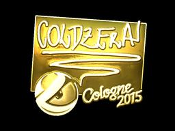 Sticker   coldzera (Gold)   Cologne 2015