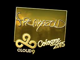 Sticker | freakazoid (Gold) | Cologne 2015
