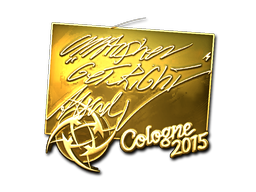 Sticker   GeT_RiGhT (Gold)   Cologne 2015