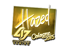 Sticker | hazed (Gold) | Cologne 2015