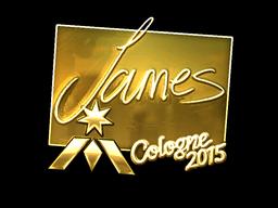 Sticker | James (Gold) | Cologne 2015