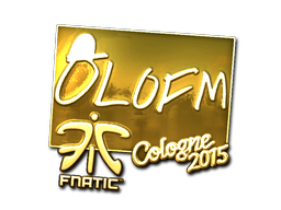 Sticker   olofmeister (Gold)   Cologne 2015