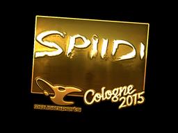 Sticker | Spiidi (Gold) | Cologne 2015