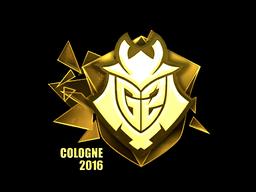 Sticker | G2 Esports (Gold) | Cologne 2016