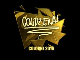 Sticker | coldzera (Gold) | Cologne 2016