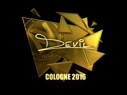 Sticker   DEVIL (Gold)   Cologne 2016