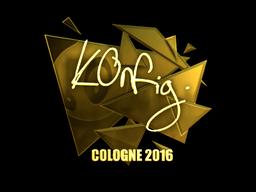 Sticker | k0nfig (Gold) | Cologne 2016