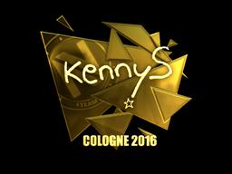 Sticker | kennyS (Gold) | Cologne 2016