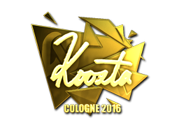 Sticker   koosta (Gold)   Cologne 2016