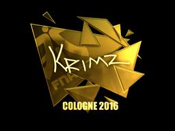 Sticker   KRIMZ (Gold)   Cologne 2016