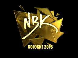 Sticker   NBK- (Gold)   Cologne 2016