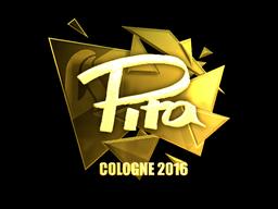 Sticker | pita (Gold) | Cologne 2016