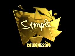 Sticker | s1mple (Gold) | Cologne 2016
