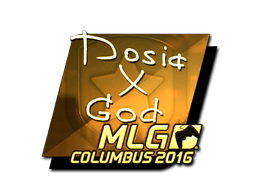 Sticker   Dosia (Gold)   MLG Columbus 2016