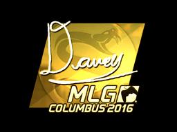 Sticker | DAVEY (Gold) | MLG Columbus 2016