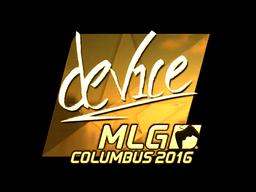Sticker | device (Gold) | MLG Columbus 2016