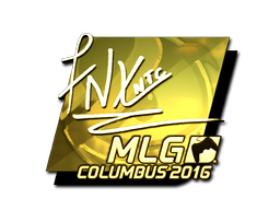 Sticker | fnx (Gold) | MLG Columbus 2016