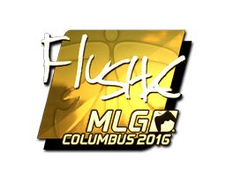 Sticker | flusha (Gold) | MLG Columbus 2016