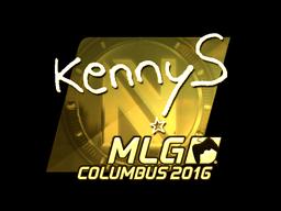 Sticker | kennyS (Gold) | MLG Columbus 2016
