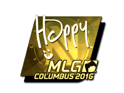 Sticker | Happy (Gold) | MLG Columbus 2016
