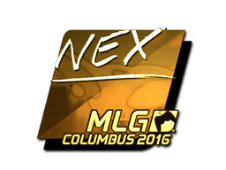 Sticker | nex (Gold) | MLG Columbus 2016