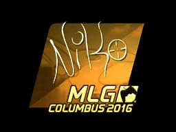 Sticker   NiKo (Gold)   MLG Columbus 2016