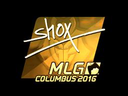 Sticker | shox (Gold) | MLG Columbus 2016