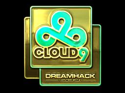 Sticker | Cloud9 (Gold) | DreamHack 2014