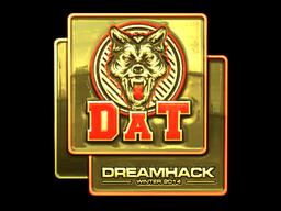 Sticker   dAT team (Gold)   DreamHack 2014